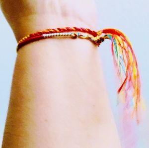 3 ⭐Woven Bracelet handmade multicolor cor New